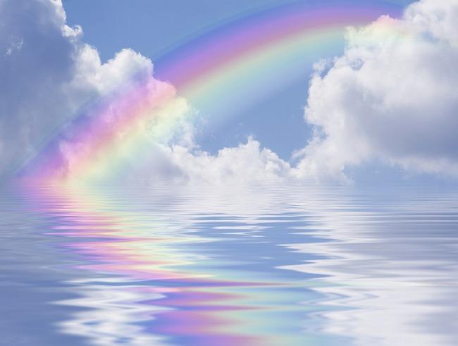 قوس القزح يغازل سطح المكتب/ Rainbow Flirts Desktop d181d182d183d0b4d0b8